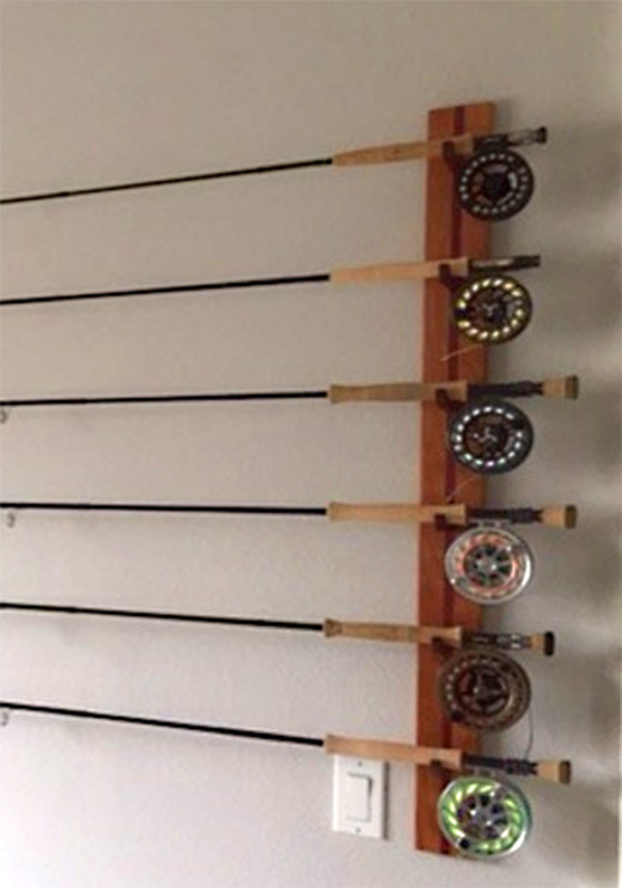 Custom Built Rod Racks From New Hamphire Solid Cherry Wood Fly